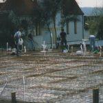 Bodenplatte wird vorbereitet